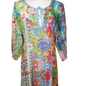 Johnny Was Floral Tunic Dress XS